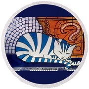 Dreaming About Round Beach Towel