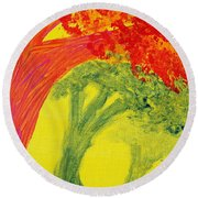 Dreaming And Shadows Round Beach Towel