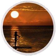 Dreaming Round Beach Towel by Debra and Dave Vanderlaan