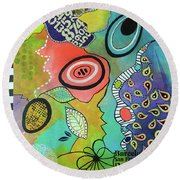 Dreaming In Colour 2 Round Beach Towel