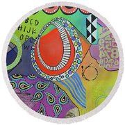 Dreaming In Colour Round Beach Towel