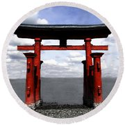 Dreaming In Japan Round Beach Towel