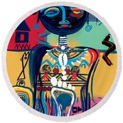 Dreaming Of Africa Round Beach Towel