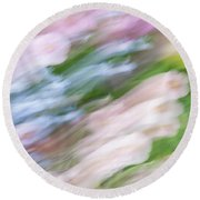 Dreaming Of Flowers 1 Round Beach Towel
