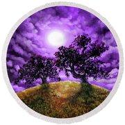 Dreaming Of Oak Trees Round Beach Towel
