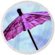 Dreaming Of Rain Round Beach Towel