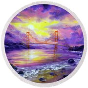 Dreaming Of San Francisco Round Beach Towel