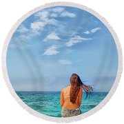 Dreaming Of Summer Round Beach Towel