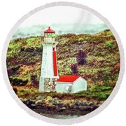 Dreaming Of The Georges Island Light In Halifax Round Beach Towel