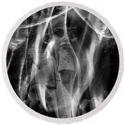 Dreaming Of The  Sphinx Round Beach Towel