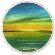 Dreaming Of The Sun Round Beach Towel