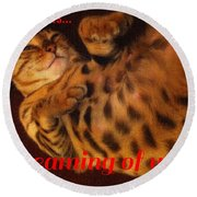Dreaming Of You  Round Beach Towel