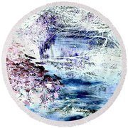 Dreaming River Round Beach Towel