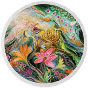 Dreams About Chagall. The Sky Violin Round Beach Towel