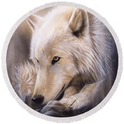 Dreamscape - Wolf Round Beach Towel