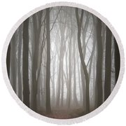 Dreamscape Forest Round Beach Towel