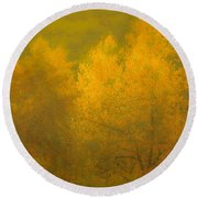 Dreamy Autumn Round Beach Towel