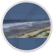 Dreamy Beach In North Carolina Round Beach Towel