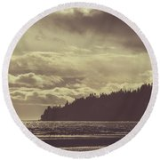 Dreamy Coastline Round Beach Towel