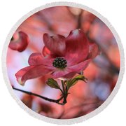 Dreamy Dogwood Round Beach Towel