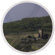 Dreamy Gutenfels Castle Round Beach Towel