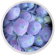 Dreamy Hydrangea In Purple And Blue  Round Beach Towel