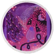 Dreamy Abstract Round Beach Towel