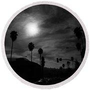 Dreamy Moon Round Beach Towel