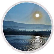 Dreamy Morning On The Ganges Round Beach Towel