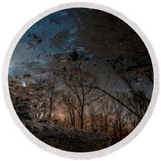 Dreamy Reflections Round Beach Towel