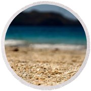 Dreamy Shell Beach Round Beach Towel