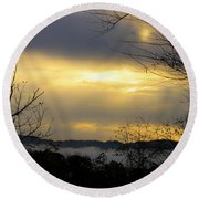 Dreamy Sunrise Round Beach Towel
