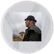 Dreary Day Round Beach Towel