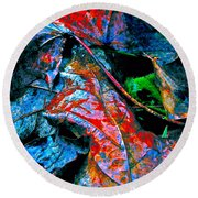 Drenched In Color Round Beach Towel