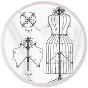Dress Form Patent 1891  Round Beach Towel