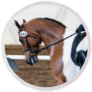 Dressage Show Horse Round Beach Towel