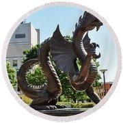 Drexel University Dragon - Philadelphia Pa Round Beach Towel