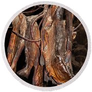 Dried Fish Round Beach Towel