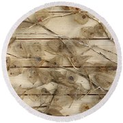Dried Fruits Of The Cape Gooseberry Round Beach Towel