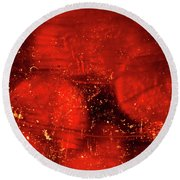 Dried Red Pepper Round Beach Towel
