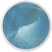Drifted Snow Waves Round Beach Towel