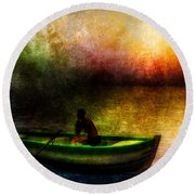 Drifting Into The Light Round Beach Towel
