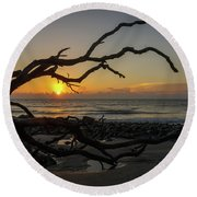 Driftwood Dawn Round Beach Towel