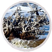 Driftwood Lace Round Beach Towel