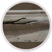 Driftwood Serpent Round Beach Towel