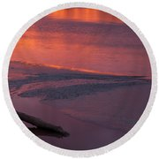 Driftwood Sundown Round Beach Towel