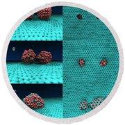 Drilling Of Graphene Nanoparticles Round Beach Towel