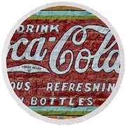 Drink Coca-cola Round Beach Towel