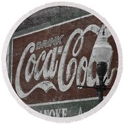 Drink Coca Cola Roanoke Virginia Round Beach Towel