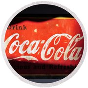 Drink Coke Round Beach Towel
